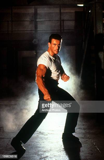 JeanClaude Van Damme in a fight pose in a scene from the film 'Death Warrant' 1990