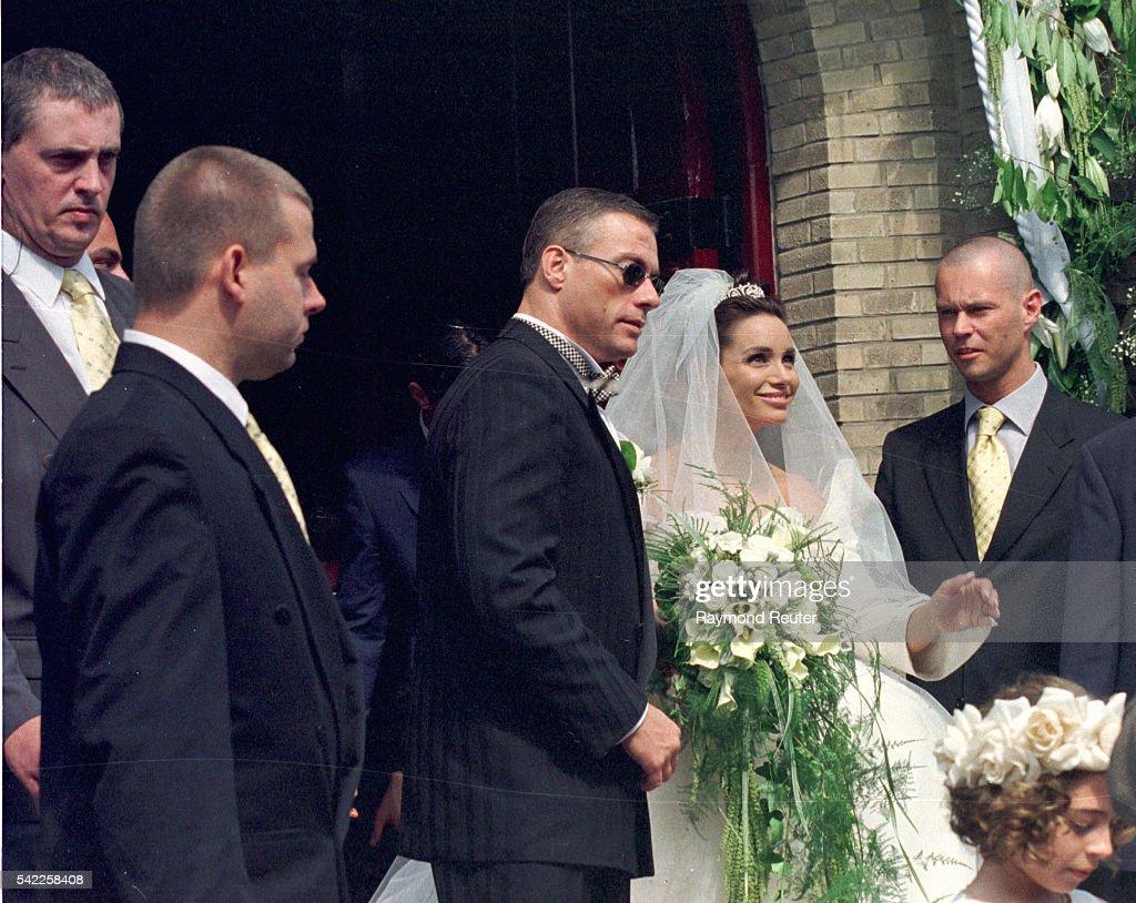 WEDDING OF J-C.VAN DAMME AND GLADYS PORTUGUES : News Photo