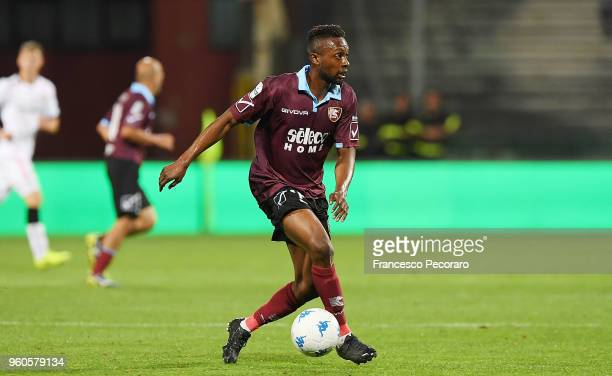 JeanDaniel Akpa Akpro in action during the Serie B match between US Salernitana and US Citta di Palermo at on May 18 2018 in Salerno Italy