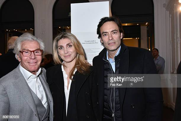 JeanDaniel Lorieux a guest and Anthony Delon attend the Mireille Darc Photo Exhibition Preview at Artcurial on January 21 2016 in Paris France
