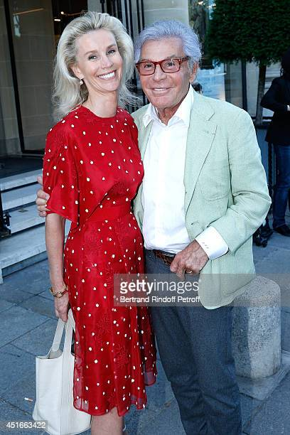 JeanDaniel Lorieux and his companion Laura Restelli attend 'Le Coeur Des Createurs' Auction at Christie's in favor of La Chaine de l'Espoir on July 3...