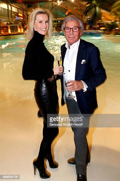 JeanDaniel Lorieux and his companion Laura Restelli attend the 1st wedding anniversary of actress Cyrielle Clair and businessman Michel Corbiere at...