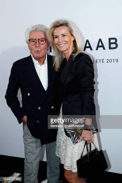 JeanDaniel Lorieux and his companion Laura Restelli attend the ELie Saab show as part of the Paris Fashion Week Womenswear Spring/Summer 2019 on...