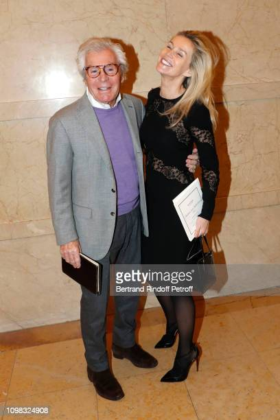 JeanDaniel Lorieux and his companion Laura Restelli attend the Elie Saab Haute Couture Spring Summer 2019 show as part of Paris Fashion Week on...