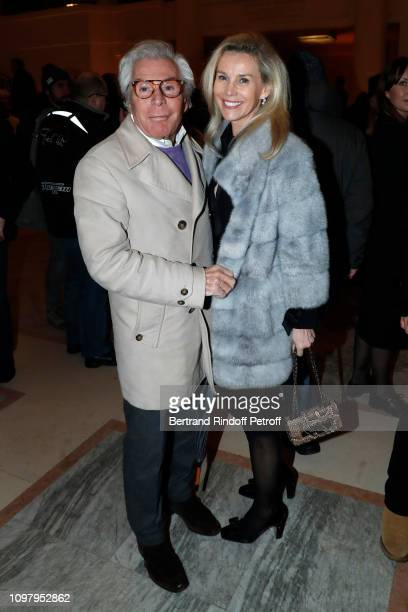 JeanDaniel Lorieux and his companion Laura Restelli attend the Stephane Rolland Haute Couture Spring Summer 2019 show as part of Paris Fashion Week...