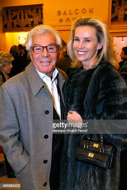 JeanDaniel Lorieux and his companion Laura Restelli Brizard attend the 'FlashBack' Photographer Jean Marie Perier's One Man Show at Theatre de la...