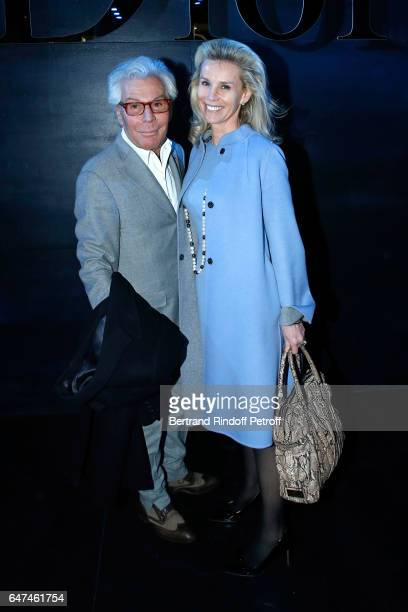 JeanDaniel Lorieux and his companion Laura Restelli Brizard attend the Christian Dior show as part of the Paris Fashion Week Womenswear Fall/Winter...