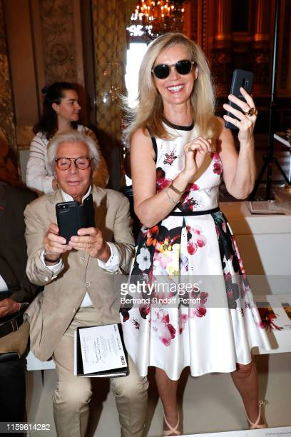 Jean-Daniel Lorieux and his companion Laura Restelli-Brizard attend the Stephane Rolland Haute Couture Fall/Winter 2019 2020 show as part of Paris...