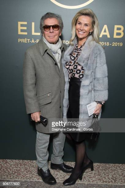 JeanDaniel Lorieux and his wife attend the Elie Saab show as part of the Paris Fashion Week Womenswear Fall/Winter 2018/2019 on March 3 2018 in Paris...