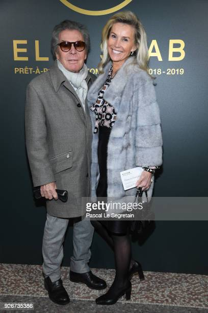 JeanDaniel Lorieux and his wife attends the Elie Saab show as part of the Paris Fashion Week Womenswear Fall/Winter 2018/2019 on March 3 2018 in...