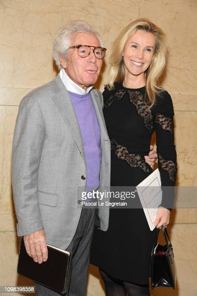 JeanDaniel Lorieux and Laura Restelli attend the Elie Saab Haute Couture Spring Summer 2019 show as part of Paris Fashion Week on January 23 2019 in...
