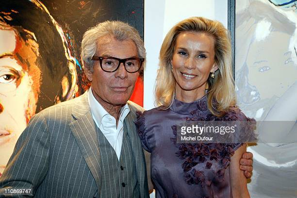 Jean-Daniel Lorieux and Laura Restelli attend the launch of the Jean-Daniel Lorieux photography exhibition at Galerie Alexandre Leadouze on March 24,...
