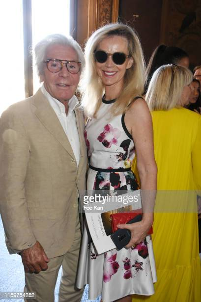 Jean-Daniel Lorieux and Laura Restelli attend the Stephane Rolland Haute Couture Fall/Winter 2019 2020 show as part of Paris Fashion Week on July 02,...