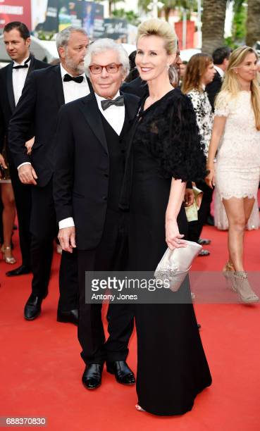 JeanDaniel Lorieux and Laura RestelliBrizard attend the 'Twin Peaks' screening during the 70th annual Cannes Film Festival at Palais des Festivals on...