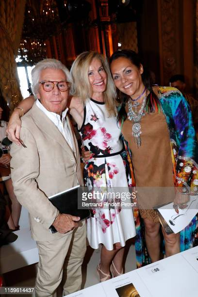 JeanDaniel Lorieux his companion Laura RestelliBrizard and Hermine de ClermontTonnerre attend the Stephane Rolland Haute Couture Fall/Winter 2019...