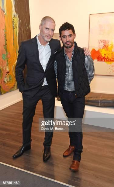 JeanDavid Malat and JeanBernard FernandezVersini attend the Frieze Masters VIP preview in Regent's Park on October 4 2017 in London England