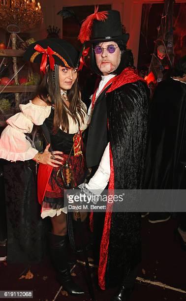 JeanDavid Malat and Nani Malat attend Halloween at Annabel's at 46 Berkeley Square on October 29 2016 in London England