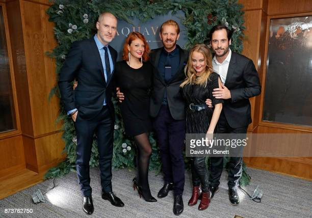 JeanDavid Malat Bethany Russelle Alistair Guy Erica Bergsmeds and Mark Sainthill attend the launch of The Nordic Winter Garden at Aquavit by McQueens...