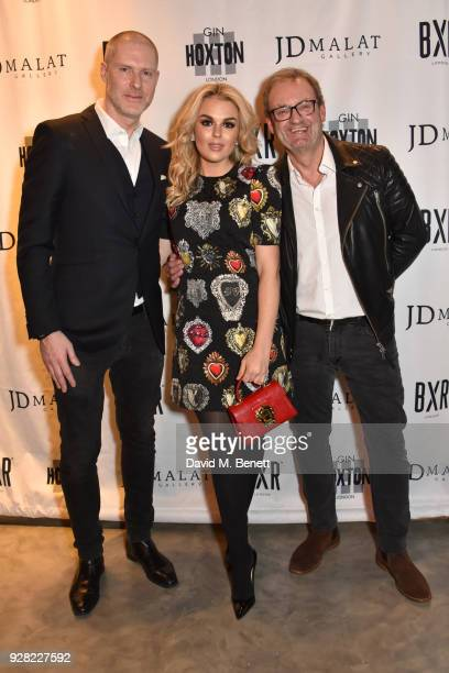 JeanDavid Malat Tallia Storm and Alan Chapman attend the opening of 'FRAME' an exhibition of photographs by Alan Chapman at BXR London on March 6...