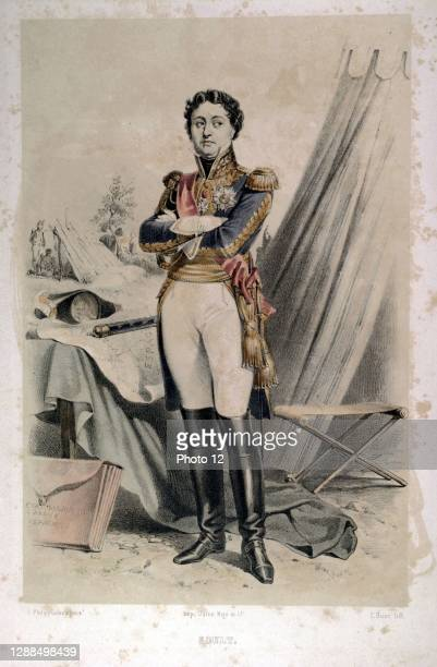 Jean-de-Dieu Soult. 1769-1851. Duke of Dalmatia, Marshal of France and French politician. Le siecle de Napoleon Paintings by F.Philippoteaux....
