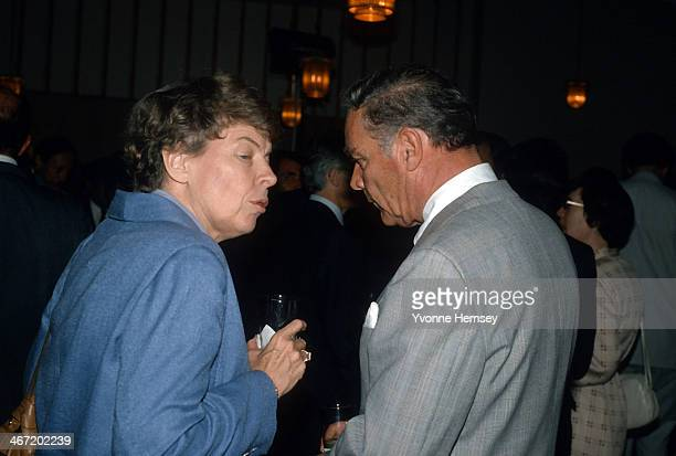 Jeane Kirkpatrick and Alexander Haig are photographed September 21 1981 at a reception at the Austrian Consulate in New York City