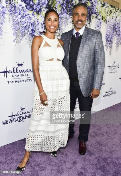 Jeanene Fox and Rick Fox attend the 2018 Hallmark Channel Summer TCA at a private residence on July 26 2018 in Beverly Hills California
