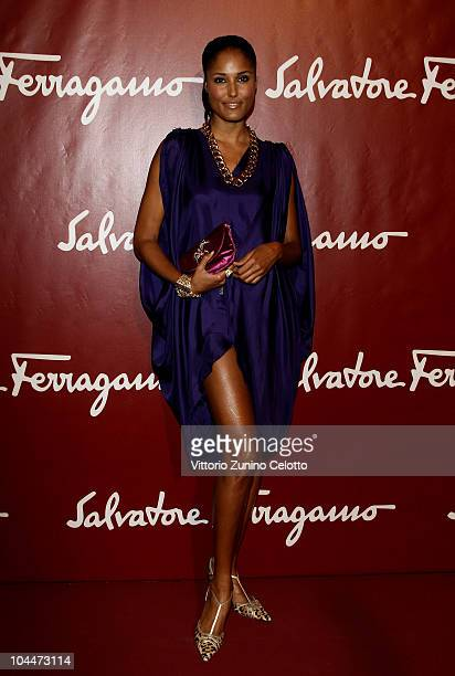 Jeanene Fox attends Salvatore Ferragamo Seize The Moment Party during Milano Fashion Week Womenwear Spring/Summer 2011 on September 26 2010 in Milan...