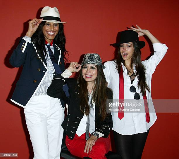 Jeanene Fox Cassandra Gava and Oona Chaplin attend 'Sicilian Defence' Milan Photocall held at Cinema Apollo on March 26 2010 in Milan Italy