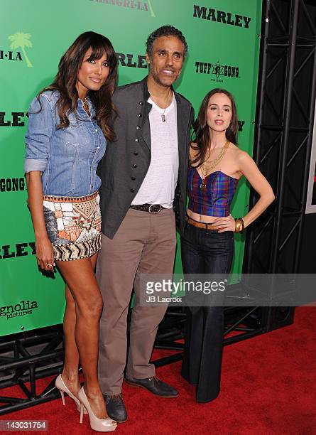 Jeanene Fox Rick Fox and Eliza Dushku attend the Los Angeles premiere of Marley at ArcLight Cinemas Cinerama Dome on April 17 2012 in Hollywood...