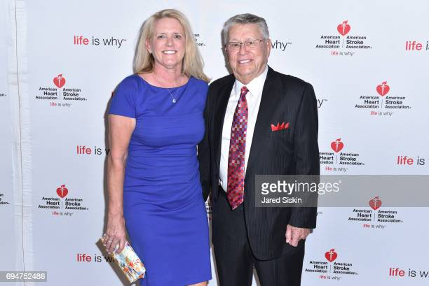 Jeanenne Boulter and George Benedict attend the 21st Annual Hamptons Heart Ball at Southampton Arts Center on June 10 2017 in Southampton New York