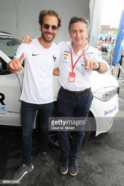 JeanEric Vergne and Formula E CEO Alejandro Agag attend the Formula E 2018 Qatar Airways New York City EPrix the double header season finale of the...