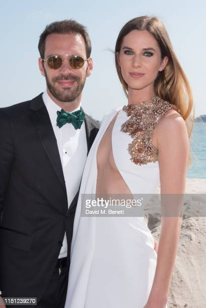 JeanEric Vergne and Lorene Renard attend a cocktail party hosted by Alejandro Agag ahead of the World Premiere of the Formula E documentary And We Go...