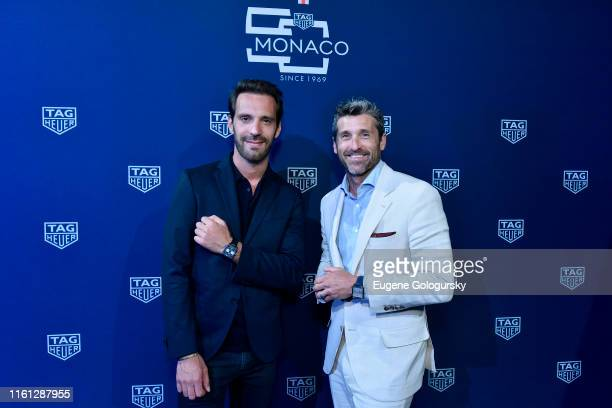 JeanEric Vergne and Patrick Dempsey attend a TAG Heuer celebration of 50 years of the iconic Monaco Timepiece with brand ambassador Patrick Dempsey...