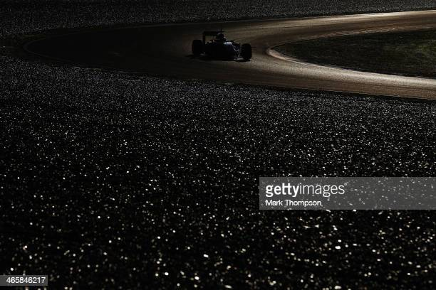 JeanEric Vergne of France and Scuderia Toro Rosso drives during day three of Formula One Winter Testing at the Circuito de Jerez on January 30 2014...