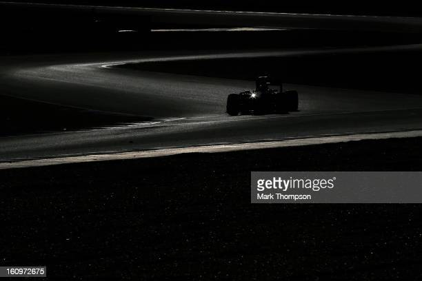JeanEric Vergne of France and Scuderia Toro Rosso drives during Formula One winter testing at Circuito de Jerez on February 8 2013 in Jerez de la...