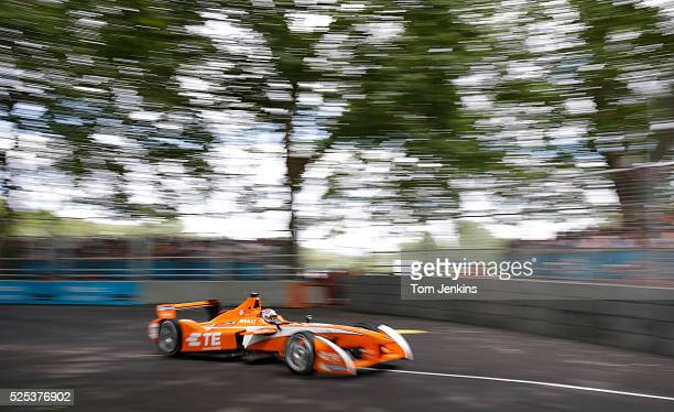 JeanEric Vergne of France in the Andretti car during the FIA Formula E Championship race in Battersea Park on June 27th 2015 in London
