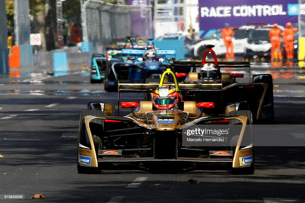 Jean-Eric Vergne of France, Techeetah drives during the ABB Formula-E Antofagasta Minerals Santiago E-Prix on February 3, 2018 in Santiago, Chile.