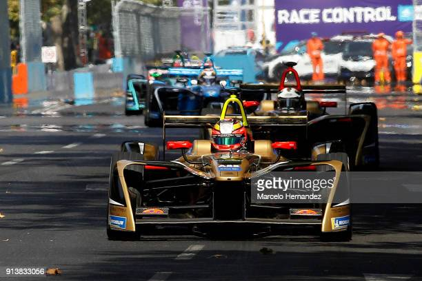 JeanEric Vergne of France Techeetah drives during the ABB FormulaE Antofagasta Minerals Santiago EPrix on February 3 2018 in Santiago Chile