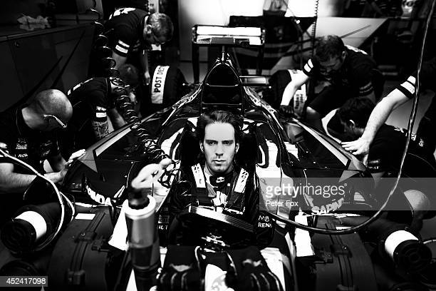 JeanEric Vergne of Toro Rosso and France ahead of the German F1 Grand Prix at Hockenheimring on July 20 2014 in Hockenheim Germany