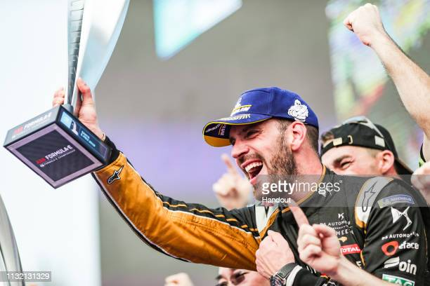 JeanEric Vergne DS TECHEETAH DS ETense FE19 celebrates on the podium during the FormulaE Race on March 22 2019 in Hainan China