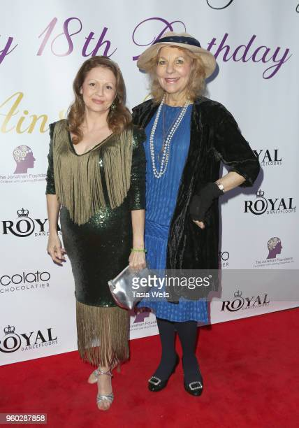 Jeanetta Martinez and Shelley Sheraton attend actress Ainsley Ross birthday party benefiting The Jonathan Foundation Upstairs At Vitellos on May 19,...
