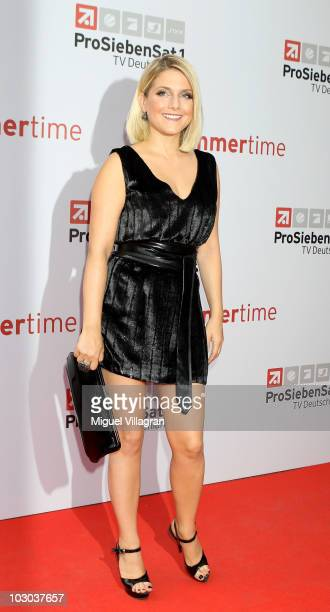 Jeanette Biedermann attends the 'ProSiebenSat1 Summertime' Photocall on July 22 2010 in Munich Germany