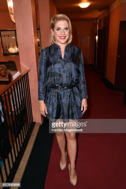 Jeanette Biedermann during the 'Aufguss' premiere at Komoedie im Bayerischen Hof on August 16 2017 in Munich Germany