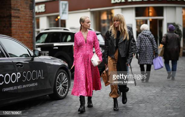 Jeanette Friis Madsen and Thora Valdimars before Blanche on January 28, 2020 in Copenhagen, Denmark.