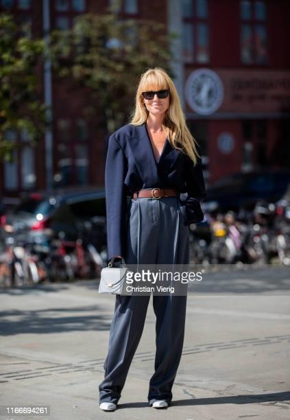 Jeanette Friis Madsen is seen outside Freya Dalsjø during Copenhagen Fashion Week Spring/Summer 2020 on August 07 2019 in Copenhagen Denmark