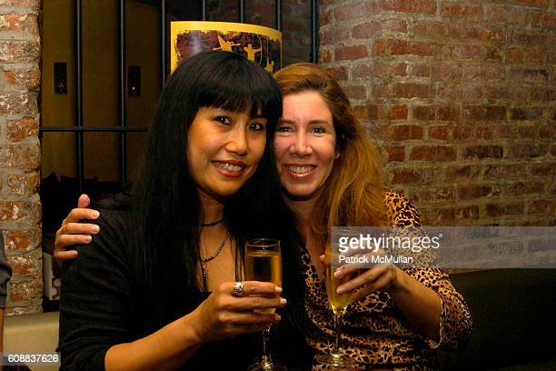 Jeanette Gonzalez and Willa Bernstein attend Drambuie Den Event with Special Guest Heather Vandeven at Level V on October 22 2007 in New York