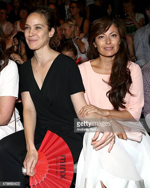 Jeanette Hain and Carolina Vera Squella attend the Minx by Eva Lutz show during the MercedesBenz Fashion Week Berlin Spring/Summer 2016 at...