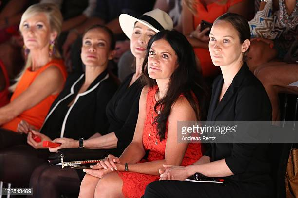 Jeanette Hain Christine Neubauer Christine Kaufmann Sonja Kirchberger and Marion Vedder attend the Minx By Eva Lutz Show during the MercedesBenz...