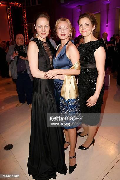 Jeanette Hain Dana Golombek and Rebecca Immanuel attend the Deutscher Hoerfilmpreis 2015 on March 17 2015 in Berlin Germany