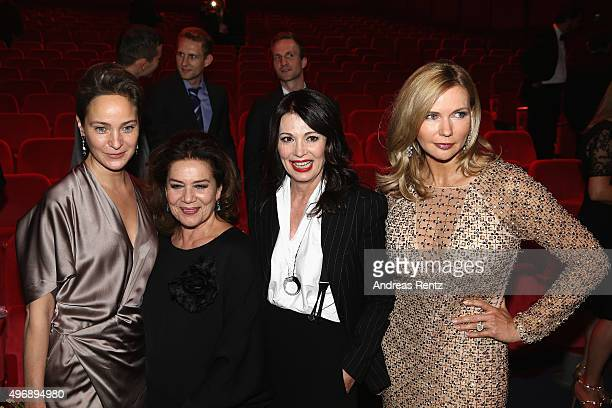 Jeanette Hain Hannelore Elsner Iris Berben and Veronica Ferres are seen after the Bambi Awards 2015 show at Stage Theater on November 12 2015 in...